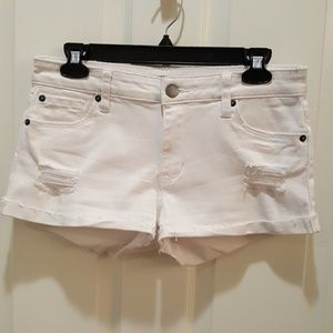 STS Blue denim cut off shorts